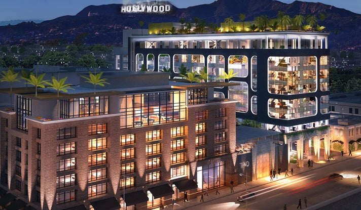 Dream Hotel Exterior | Photo courtesy of Dream Hotel Hollywood