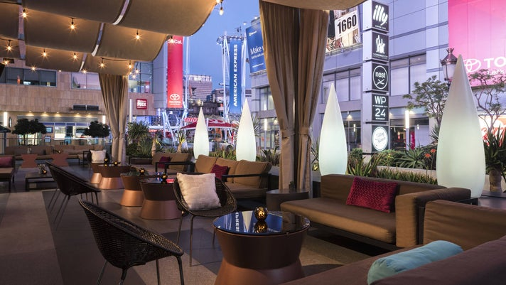 The Mixing Room patio at JW Marriott Los Angeles L.A. LIVE